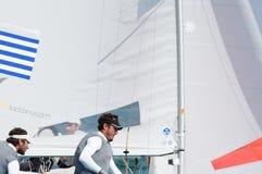 Grekland avslutar 5th på koppen för ISAF-seglingwolden i Miami Royaltyfria Bilder
