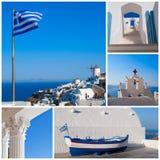 Grekland collage arkivfoton
