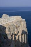 Grekland en gammal vägg Arkivbild