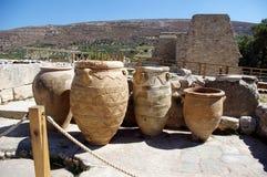 Grekland för slottKnossos Kreta lergods royaltyfria foton