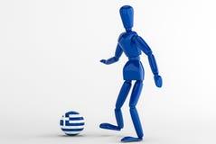Grekland fotboll Royaltyfri Foto