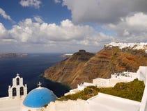 Grekland för Santorini ölandskap lopp Arkivfoton