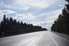Grekland huvudväg Royaltyfri Fotografi