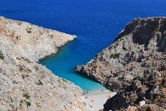 Grekland jäkels tillflyktsortstrand Royaltyfria Bilder