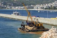 Grekland Kavala som muddrar Royaltyfri Bild