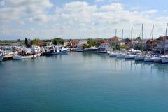 Grekland Keramoti, hamn Fotografering för Bildbyråer