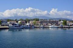 Grekland Keramoti, hamn Arkivbild
