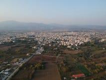 Grekland Komotini flyg- sikt royaltyfria foton