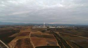 Grekland Komotini industriområde royaltyfria foton