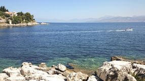 Grekland Korfu ö, Kassiopi by Arkivfoto