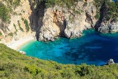 Grekland Korfu ö, Paleokastritsa Royaltyfria Bilder
