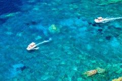 Grekland Korfu ö, Paleokastritsa Arkivbild