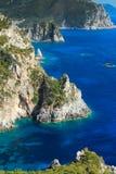 Grekland Korfu ö, Paleokastritsa Royaltyfri Bild