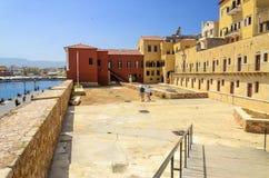 Grekland - Kreta - Chania. Det maritima museet av Chania Royaltyfri Fotografi