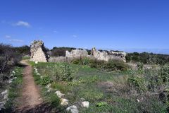 Grekland Kreta, forntida Aptera royaltyfri foto