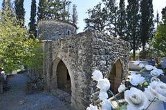 Grekland Kreta, tidig kristen basilika royaltyfri bild