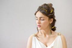 Grekland kvinna fotografering för bildbyråer