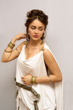 Grekland kvinna royaltyfri foto