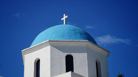 Grekland kyrka Arkivbild