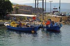 Grekland Lefkada, Fisher Man Arkivfoton