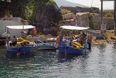 Grekland Lefkada, Fisher Men Arkivbild