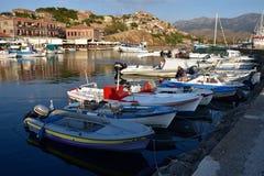 Grekland Lesbos, Mithimna Royaltyfri Bild