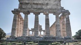 Grekland mall i Paestum, Italien fotografering för bildbyråer