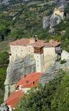 Grekland Meteora, kloster Arkivfoton