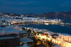 Grekland - Mykonos ö Arkivfoton