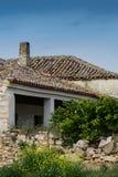 Grekland nationellt traditionellt hus Arkivbilder