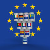 Grekland och euen stock illustrationer