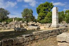 Grekland Olympia ursprung av olympiska spel Royaltyfria Bilder