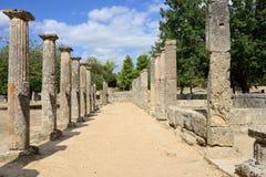 Grekland Olympia ursprung av olympiska spel Arkivbilder