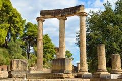Grekland Olympia ursprung av olympiska spel Arkivfoton
