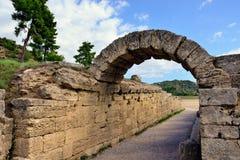 Grekland Olympia ursprung av olympiska spel Royaltyfria Foton