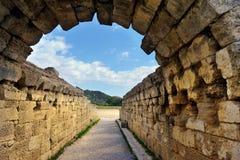 Grekland Olympia ursprung av olympiska spel Royaltyfri Bild