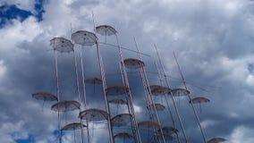 Grekland paraply Royaltyfria Foton