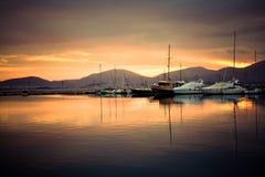 Grekland port Arkivbild