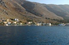 Grekland Rhodes definition av ett kust- landskap Arkivbild