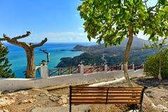 Grekland Rhodes Island, Tsambika Arkivbild