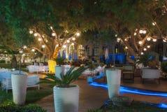 Grekland Rhodes - Juli 11: Vardagsrumområdet av kasinot av Rhodes på Juli 11, 2014 i Rhodes, Grekland Royaltyfri Bild