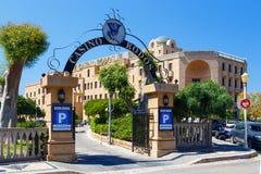 GREKLAND RHODES - 05 JUNI 2016: Rhodes kasinohotell som bygger solig sommar Royaltyfri Bild