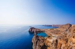 Grekland Rhodes, Lindos Royaltyfria Bilder