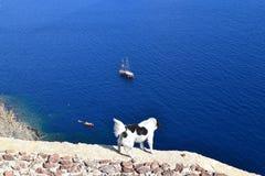 Grekland Santorini, Oia Arkivbilder