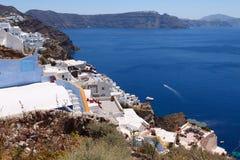Grekland Santorini sikter Arkivfoton