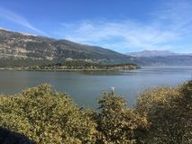 Grekland sjö Arkivfoton