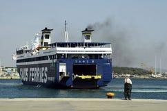 Grekland skepp, transport Fotografering för Bildbyråer