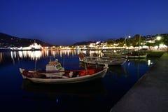 Grekland Skopelos ö, Skopelos stad Arkivfoto