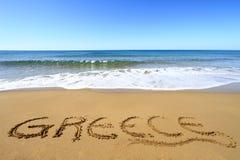 Grekisk strand Royaltyfria Foton