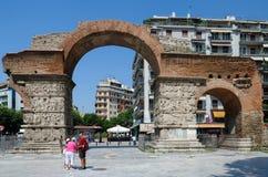 Grekland Thessaloniki, båge av Galerius Royaltyfri Foto